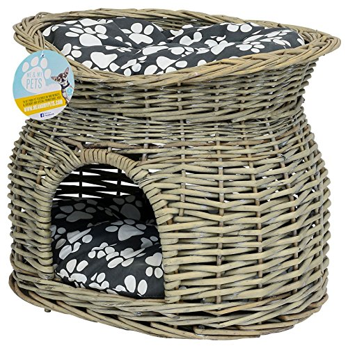 me-my-pets-two-tier-woven-pet-bed-basket