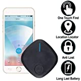 Smart Tracker Bluetooth Key-Finder Wireless Device Locator for Phone Wallet Bag Used Kids-GPS-Tracker (1 Pack, Black) (Color: Black)