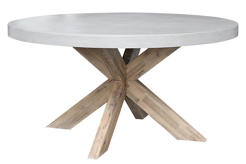 Curve Tisch D 150×75 cm aus Fiberstone in moderner Betonoptik Gartentisch Gartenmöbel günstig