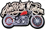 9 5 x6 5  Big Jumbo Large Red American Kustom Model Diecast Figure Motorcycles Choppers Lady Rider Biker Tatoo Jacket T shirt Patch Sew Iron on Embroidered Sign Badge Costume