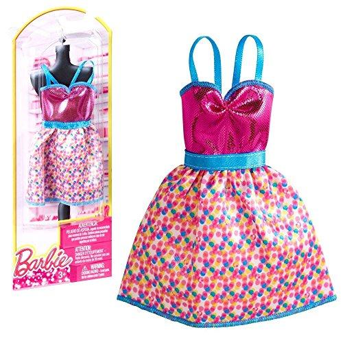 barbie-tendance-mode-pour-les-vetements-de-poupee-barbie-robe-rose-bleu-avec-des-paillettes