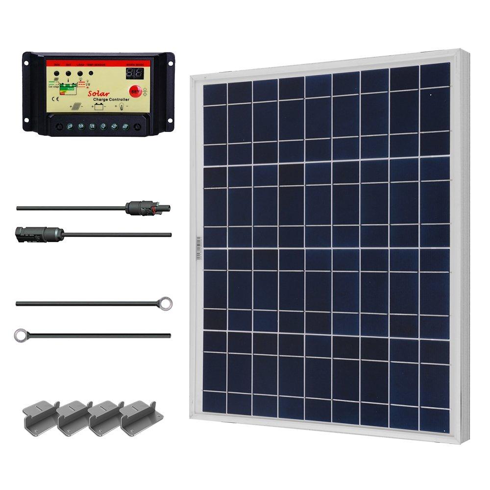 RENOGY 50 Watts 12 Volts Polycrystalline Solar Starter Kit