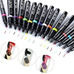 Tonsee 16 Colors Set Nail Art Pen for...