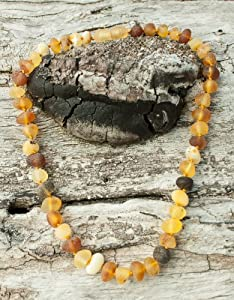 Thick Bead Baltic Amber Necklace for Women. Maximum Effective