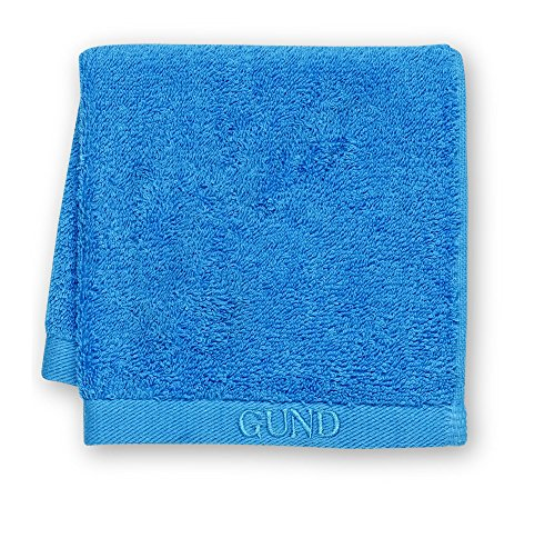GUND Bear Essential Ringspun Face Towel, Circus Blue, 12'' By 12'' - 1