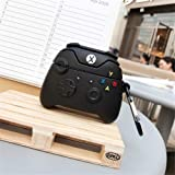 Xbox One S Controller Case for Airpods Pro, 3D Cartoon Xbox One x Controller Silicone Funny Airpods Pro Cover, Cool Keychain Design Skin,Fashion Cases for Airpods Pro [2019 Release] (Black) (Color: Black)