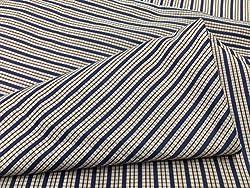 GANGHS Men's Designer Checkered Cotton Shirt Fabric