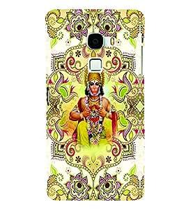 PrintVisa Religious & Spiritual Hanuman 3D Hard Polycarbonate Designer Back Case Cover for LeEco Le Max