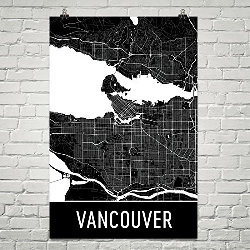 Vancouver Washington Map wall art