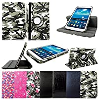 "Cellularvilla Leather Case For Samsung Galaxy Tab 3 7.0"" Inch P3200 P3210 T210 Tablet 360 Degrees Rotating PU Leather Flip Folio Case Cover with Auto Sleep/wake Feature Swivel Stand +Stylus Touch Pen by Cellularvilla"