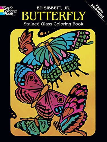 Dover Publications-Butterfly Stained Glass Coloring Bk - 1
