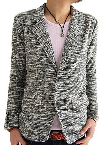 (アーケード) ARCADE 3color メンズ 春 テーラードジャケット スラブネップ テーラード ジャケット L ブラック