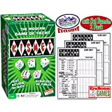 Kismet Dice Poker Game of Modern Yacht & Replacement Scorepads Deluxe Gift Set Bundle - 2 Pack