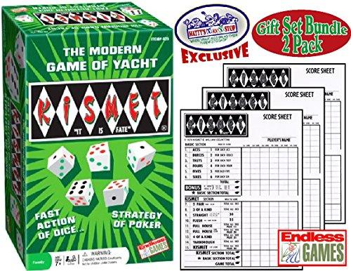 Kismet Dadi da Poker del Modern Yacht Scorepads & ricambio-Set per confezione regalo, confezione da 2