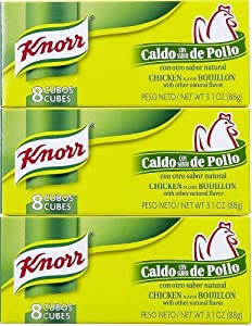 Knorr Caldo De Pollo - Chicken Buillion Cubes 88g Each 3 Piece Lot From Mexico