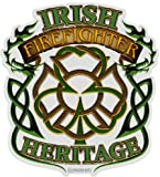 Irish Heritage Firefighter Decal - 4 in.