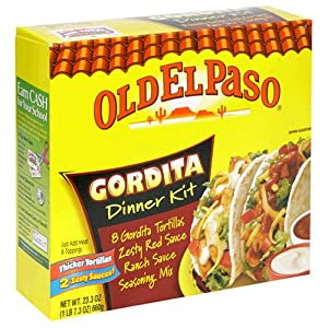Old El Paso Dinner Kits, Gordita Ranch And Red Sauce, Case of 12 23.3-Ounce Units