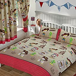Howdy Cowboy Double/US Full Duvet Cover and Pillowcase Set