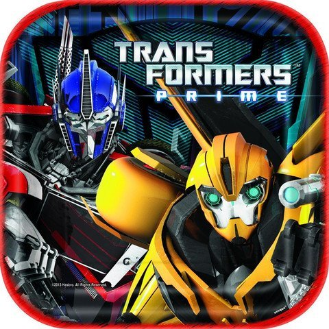 Transformers Party Plate Square - 1