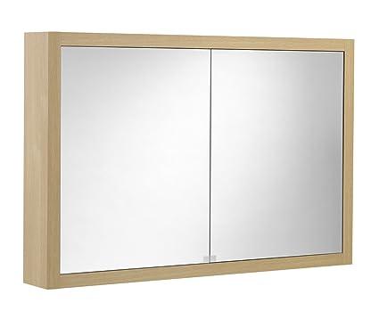 Tiger Boston Spiegelschrank mit 2 Turen eiche hell 70 x 105 x 15 cm, 596823200