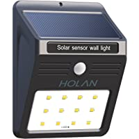 Mulcolor HL002 12 LED Wireless Rainproof Security Solar Sensor Wall Light (Black)