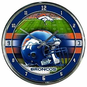 NFL Denver Broncos Chrome Clock by WinCraft