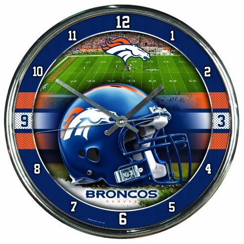 NFL Denver Broncos Chrome Clock