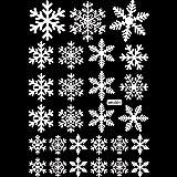 YideaHomeウォールステッカー クリスマス 雪の結晶 壁紙 シール インテリアステッカー パーティー グッズ 装飾 デコレーション 飾り付け ディスプレイ