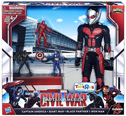 Captain America Civil War Miniverse Captain America, Giant Man, Black Panther & Iron Man Exclusive Action Figure 4-Pack (Ironman Action Figures 3 Inches compare prices)