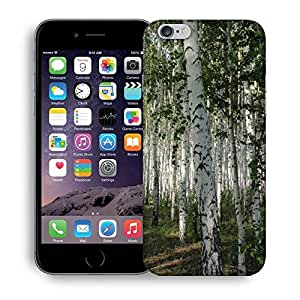 Snoogg White Trees Printed Protective Phone Back Case Cover For Apple Iphone 6+ / 6 Plus