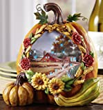 Lighted Country Harvest Pumpkin Fall Decoration