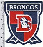 "Vintage NFL Denver Broncos Old Logo Throwback LARGE 4 3/4"" Crest Patch w/ Old ""D"" Logo Throwback (sew on) at Amazon.com"