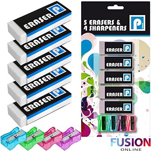 9-piece-eraser-sharpener-set-rubber-erasers-pencil-sharpeners-high-quality-uk-fusiontm