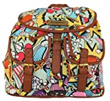 Punk Pop Art Print Twin Pocket Backpack / Rucksack / School Bag