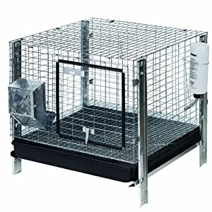 Bunny wonder rabbit hutch cage kit 24 by 24 for Outdoor rabbit hutch kits