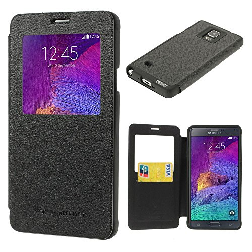 Black Mercury Wow Bumper View Leather + TPU Shell Flip Cover for Samsung Galaxy S4 Mini i9190