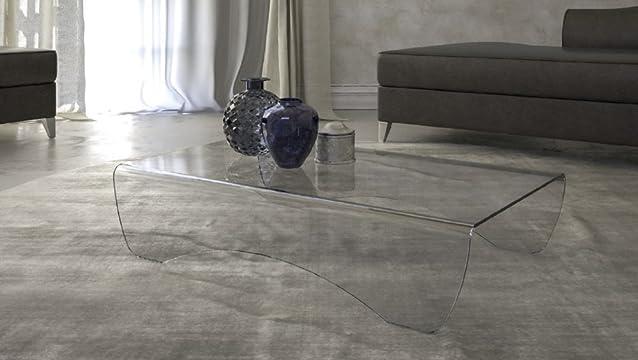 Tavolo da salotto in vetro Mod.Pelle Cm 120 x 70 x h.35 -Sp.10mm Finitura: Marrone, Art.T37C/06