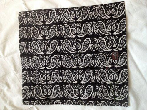 Della Q Large Eden Cotton Pouch - Black and White Paisley by Della Q