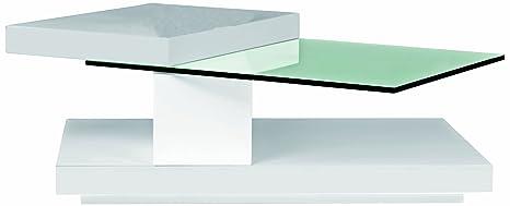 BH Design Hi-Gloss Coffee Table with Swivel Tops, Black