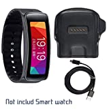 Gear Fit Charger, Samsung Gear Fit R350 Charging Cradle Dock, AnoKe Smart Watch Replacement Portable Charging Docking Station Cradle Dock + USB Cable Cord for (Samsung R350 Dock) (Color: Samsung Galaxy Gear Fit R350)