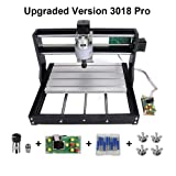 Upgrade CNC 3018 Pro GRBL Control DIY CNC Machine, 3 Axis PCB PVC Milling Engraving Machine,Wood Router Laser Engraving XYZ Working Area 300x180x45mm by Craftsman (3018-PRO with extension rod)