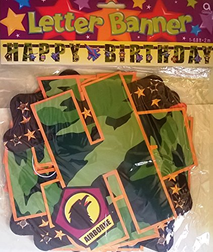 Airborne Happy Birthday Letter Banner 6.8 Foot