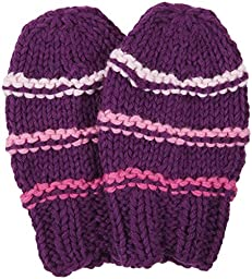 2H Hand Knits Baby Girls\' Knit Mittens - Royal/L.Pink/Wild Orchid/H.Pink - XX-Small