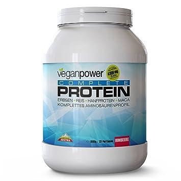 "Multikomponenten Protein ""Complete Protein"" - Himbeere 1kg fuer veganer Sunwarrior Vega Sport"
