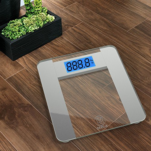 Zerla Digital Bathroom Scale Highly Accurate Digital Scale With Large 4 5 Lcd Display 400lb
