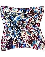 ETSYG® Multicolour Large Head Scarves Women Silk Square Scarf Petal Rose Pattern
