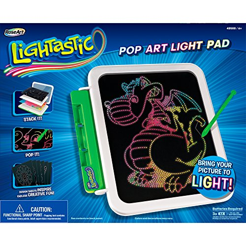 RoseArt Lightastic Pop Art LED Light Pad Toy