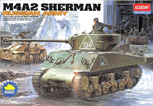 Academy 1:35 M4A2 Sherman Lend Lease Russian Army - Plastic Model Kit #13010 (Academy 1 35 Sherman compare prices)