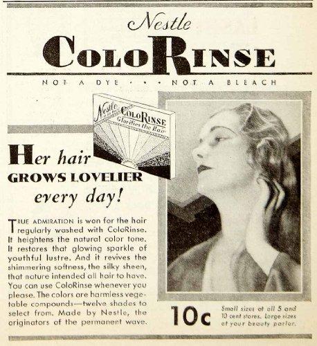 1931-advert-nestle-colorinse-haircare-tint-beauty-silky-sheen-wash-colorant-girl-original-print-ad