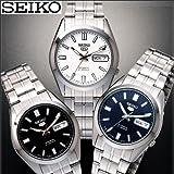 SEIKO セイコー5 日本生産モデル 自動巻き・中三針・日付・曜日・防水の5機能 (ブラック)
